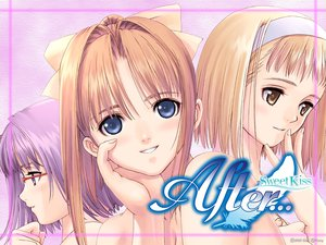 Rating: Safe Score: 9 Tags: after after_sweet_kiss blonde_hair blue_eyes brown_eyes glasses headband kishi_youko long_hair orange_hair ponytail purple_hair shiomiya_kanami short_hair taka_tony takawashi_nagisa User: Oyashiro-sama