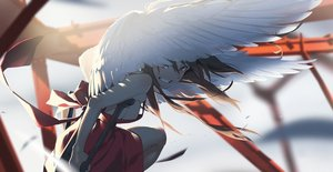 Rating: Safe Score: 63 Tags: dress long_hair original wings yoneyama_mai User: FormX