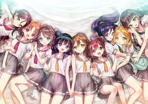 Rating: Safe Score: 43 Tags: aqua_eyes black_hair blonde_hair blue_hair braids brown_hair green_eyes group hug kunikida_hanamaru kurosawa_dia kurosawa_ruby long_hair love_live!_school_idol_project love_live!_sunshine!! matsuura_kanan navel ohara_mari orange_hair pink_eyes ponytail purple_eyes red_hair sakurauchi_riko seifuku short_hair skirt takami_chika tsukigami_runa tsushima_yoshiko watanabe_you water yellow_eyes User: RyuZU