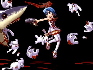 Rating: Safe Score: 15 Tags: animal black blood disgaea gun mazda pleinair rabbit shark weapon User: Oyashiro-sama