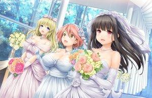 Rating: Safe Score: 56 Tags: amabane_nodoka game_cg higashiboujou_akira ishikei love3 neko_works shitaka_iori wedding_attire User: mattiasc02