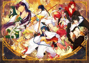 Rating: Safe Score: 92 Tags: aladdin_(magi) ali_baba_saluja barefoot black_hair blonde_hair blue_eyes blue_hair feathers hakyruu_ren hat jafar jpeg_artifacts judal kabi long_hair magi_the_labyrinth_of_magic male morgiana pink_hair red_eyes red_hair ren_kouen ren_kougyoku ren_kouha ren_koumei ribbons scheherazade short_hair sinbad sword weapon white_hair yellow_eyes yunan User: Maboroshi