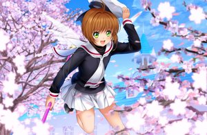 Rating: Safe Score: 42 Tags: brown_hair card_captor_sakura cherry_blossoms flowers green_eyes hat kinomoto_sakura moonknives school_uniform short_hair User: SciFi