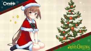 Rating: Safe Score: 37 Tags: boots brown_eyes brown_hair cape christmas dress gmo hat kyuri long_hair mikumo_conoha ponytail santa_costume santa_hat User: 蕾咪