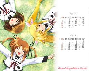 Rating: Safe Score: 11 Tags: calendar fate_testarossa mahou_shoujo_lyrical_nanoha takamachi_nanoha yagami_hayate User: Oyashiro-sama
