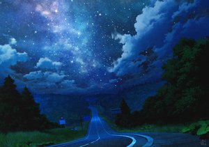 Rating: Safe Score: 69 Tags: clouds forest grass mocha_(cotton) night nobody original signed sky stars tree User: RyuZU