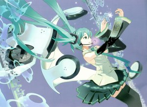 Rating: Safe Score: 30 Tags: 119 green_hair hatsune_miku headphones long_hair tie vocaloid User: rargy