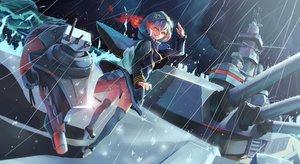 Rating: Safe Score: 78 Tags: anthropomorphism ass kantai_collection rain re-class_battleship sima_naoteng tail thighhighs water User: Wiresetc