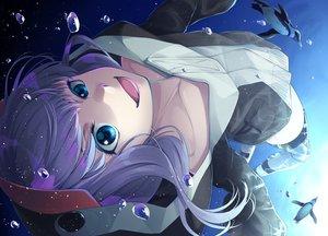 Rating: Safe Score: 36 Tags: animal aqua_eyes bubbles close fate/grand_order fate_(series) hoodie long_hair meltryllis mukunokino_isshiki penguin purple_hair thighhighs underwater water User: BattlequeenYume
