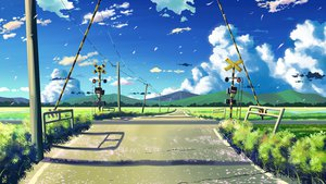 Rating: Safe Score: 154 Tags: byousoku_5_centimetre clouds grass landscape macnaut nobody original petals scenic signed sky User: STORM