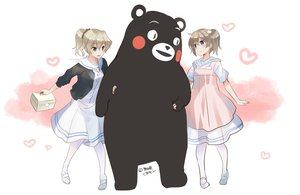 Rating: Safe Score: 36 Tags: 2girls aliasing animal bear blue_eyes blush brown_hair crossover gray_hair green_eyes hakuisei_renai_shoukogun heart kumamon naruse_chisato nurse original ponytail sawai_kaori signed uniform yamanouchi_yasuko User: otaku_emmy