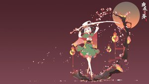 Rating: Safe Score: 40 Tags: bow cherry_blossoms gradient green_eyes ideolo japanese_clothes konpaku_youmu myon red short_hair sword touhou tree weapon white_hair User: BattlequeenYume