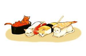 Rating: Safe Score: 30 Tags: animal cat food hakuchizu_(jedo) nobody original signed white User: otaku_emmy