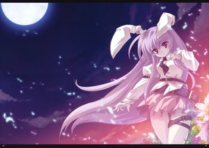 Rating: Safe Score: 29 Tags: animal_ears bunny_ears bunnygirl reisen_udongein_inaba scan skirt sky touhou User: 秀悟