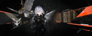 Rating: Safe Score: 86 Tags: animal bird dark gray_hair mivit owl pixiv_fantasia weapon yellow_eyes User: Flandre93
