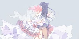 Rating: Safe Score: 54 Tags: 2girls black_hair bow dress hug kurosawa_ruby long_hair love_live!_school_idol_project love_live!_sunshine!! mashiro_(rikuya) matsuura_kanan ponytail red_hair school_uniform skirt twintails User: BattlequeenYume