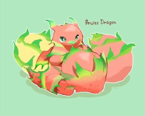 Rating: Safe Score: 7 Tags: chai_(artist) dragon food fruit green nobody original polychromatic signed User: otaku_emmy