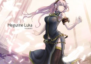Rating: Safe Score: 106 Tags: blue_eyes feathers long_hair megurine_luka museum2088 pink_hair thighhighs vocaloid User: FormX