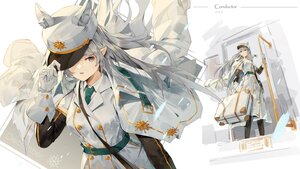 Rating: Safe Score: 27 Tags: animal_ears gloves gray_hair hat ji_dao_ji long_hair military original pointed_ears tie uniform User: BattlequeenYume