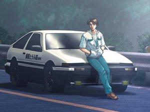 Rating: Safe Score: 40 Tags: car fujiwara_takumi initial_d User: Oyashiro-sama
