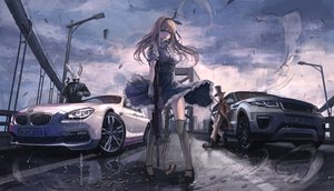 Rating: Safe Score: 183 Tags: alice_in_wonderland alice_(wonderland) animal_ears blonde_hair boots car cigarette clouds dress gloves gun hat headband koh_(minagi_kou) mad_hatter male phone rain sky suit sunglasses thighhighs tie water weapon white_rabbit wristwear User: luckyluna
