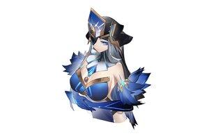 Rating: Safe Score: 47 Tags: blue_eyes breasts cleavage elbow_gloves eyepatch feathers genshin_impact gloves gray_hair headdress long_hair mirror_maiden_(genshin_impact) yushi_ketsalkoatl User: otaku_emmy