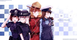 Rating: Safe Score: 18 Tags: black_hair blake_belladonna blonde_hair dishwasher1910 group police police_uniform ruby_rose rwby watermark weiss_schnee white_hair yang_xiao_long User: Precursor