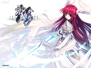 Rating: Safe Score: 77 Tags: armor feathers ikaruga_satsuki red_hair seinarukana sword weapon wings xuse User: acucar11
