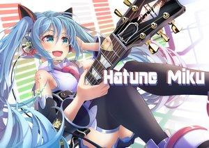 Rating: Safe Score: 16 Tags: guitar hatsune_miku headphones imo_bouya instrument vocaloid zettai_ryouiki User: FormX