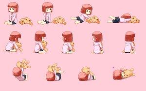 Rating: Safe Score: 96 Tags: barefoot brown_hair loli nagian original pink teddy_bear User: connardman