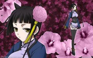 Rating: Safe Score: 55 Tags: black_hair chinese_clothes close flowers kuroshitsuji ran-mao thighhighs User: ssagwp