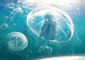Rating: Safe Score: 38 Tags: barefoot nude original spencer_sais underwater water User: BattlequeenYume
