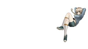 Rating: Safe Score: 60 Tags: amane_suzuha bike_shorts blonde_hair braids shorts socks steins;gate yellow_eyes User: masterP
