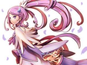 Rating: Safe Score: 84 Tags: choker cure_sword dokidoki!_precure kenzaki_makoto long_hair petals ponytail precure purple_eyes purple_hair suou_sakura thighhighs User: opai