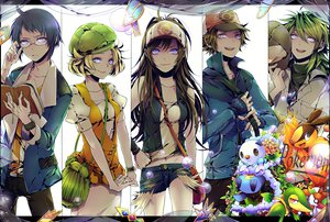 Rating: Safe Score: 233 Tags: bel_(pokemon) blonde_hair cheren flowers green_hair hat n nai_kitsu pokemon touko_(pokemon) touya User: opai