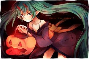 Rating: Safe Score: 69 Tags: halloween hatsune_miku horns pointed_ears tama_(songe) vocaloid User: HawthorneKitty