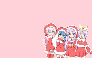 Rating: Safe Score: 55 Tags: blush christmas hiiragi_kagami hiiragi_tsukasa izumi_konata lucky_star maruki_(punchiki) pink takara_miyuki thighhighs User: SciFi