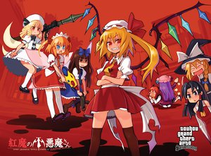 Rating: Safe Score: 55 Tags: bow braids demon dress fairy flandre_scarlet grand_theft_auto group gun hakurei_reimu hat headdress japanese_clothes jpeg_artifacts kirisame_marisa kneehighs koakuma long_hair luna_child miko parody patchouli_knowledge red_eyes star_sapphire sunny_milk thighhighs touhou vampire weapon wings witch User: w7382001