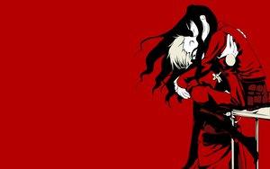 Rating: Safe Score: 15 Tags: archer fate_(series) fate/stay_night jpeg_artifacts kiss male monochrome red tohsaka_rin User: Oyashiro-sama