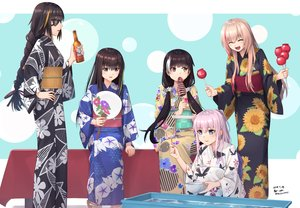Rating: Safe Score: 43 Tags: aliasing anthropomorphism apple ar-15_(girls_frontline) bicolored_eyes black_eyes black_hair blush braids brown_hair candy drink eyepatch fang festival food fruit girls_frontline group japanese_clothes m16a1_(girls_frontline) m4a1_(girls_frontline) m4_sopmod_ii_(girls_frontline) pink_hair ponytail purple_eyes ro635_(girls_frontline) sarasa_(kanbi) signed yukata User: RyuZU
