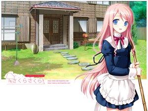 Rating: Safe Score: 51 Tags: blue_eyes kasukabe_akira long_hair maid pink_hair sakura_nanako sakura_sakura User: Oyashiro-sama