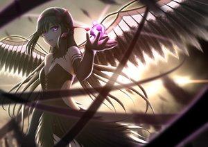 Rating: Safe Score: 163 Tags: akemi_homura akuma_homura black_hair dress elbow_gloves feathers gloves headband long_hair mahou_shoujo_madoka_magica mahou_shoujo_madoka_magica_movie purple_eyes siraha wings User: Flandre93