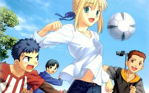 Rating: Safe Score: 24 Tags: artoria_pendragon_(all) ball fate/hollow_ataraxia fate_(series) fate/stay_night male saber soccer sport type-moon User: Oyashiro-sama
