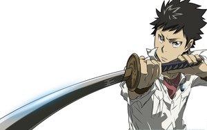 Rating: Safe Score: 9 Tags: all_male katana katekyou_hitman_reborn male sword weapon white yamamoto_takeshi User: Zero