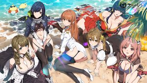 Rating: Safe Score: 117 Tags: animal anthropomorphism azur_lane beach bird breasts brown_eyes brown_hair cleavage cosplay crossover dead_or_alive dress goth-loli group honoka_(doa) japanese_clothes kasumi logo lolita_fashion long_hair manjuu_(azur_lane) misaki_(doa) monica_(doa) nagisa_(doa) navel nyotengu pink_hair purple_eyes red_eyes stockings sunglasses swim_ring twintails uniform waifu2x water yang-do User: BattlequeenYume