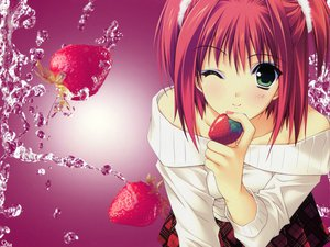 Rating: Safe Score: 53 Tags: food fruit strawberry suzuhira_hiro tagme User: N1
