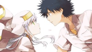 Rating: Safe Score: 25 Tags: black_eyes black_hair green_eyes headdress index kamijou_touma long_hair male nun saiba_chikuwa short_hair to_aru_kagaku_no_railgun to_aru_majutsu_no_index white_hair User: otaku_emmy