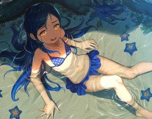 Rating: Safe Score: 87 Tags: bikini blue_hair flat_chest loli mimizubare original swimsuit tentacles waifu2x water yellow_eyes User: mattiasc02