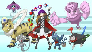 Rating: Safe Score: 18 Tags: animal animal_ears bicolored_eyes blue_eyes brown_hair cape dress group hat hijiri_byakuren houjuu_nue long_hair mouse murasa_minamitsu nazrin parody pokemon purple_hair red_eyes tail tatara_kogasa thighhighs tiger toramaru_shou tottema touhou unzan yellow_eyes User: w7382001