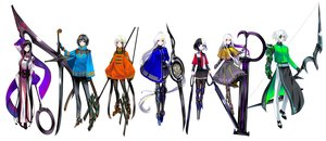 Rating: Safe Score: 33 Tags: armor black_hair boots bow_(weapon) cape corset dress eyepatch gloves green_eyes group long_hair male orange_eyes original purple_eyes red_eyes scythe short_hair skirt sword thighhighs tie tsuki-shigure weapon white white_hair yellow_eyes User: otaku_emmy